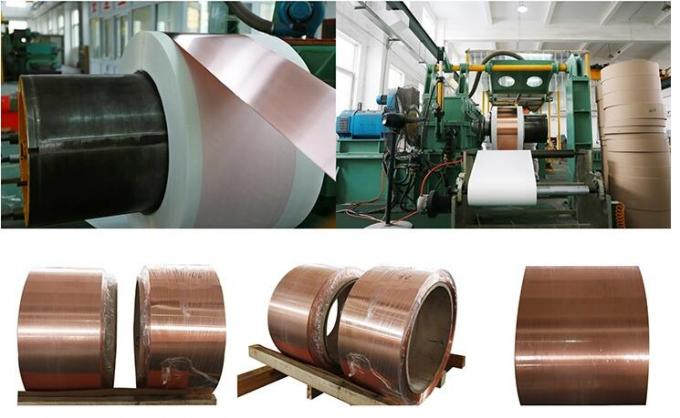 Pure Copper Foil Strip , Copper Foil Roll For 0.1mm To 2.5mm Thickness