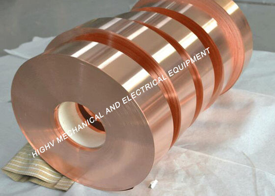 China 0.1mm Thickness Red Copper Foil Tape Rolled Shape For Stained Glass supplier