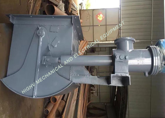 China DSZ 1.5KW Electro Hydraulic Fan Gate Carbon Steel Material For Mining Heavy Industry supplier