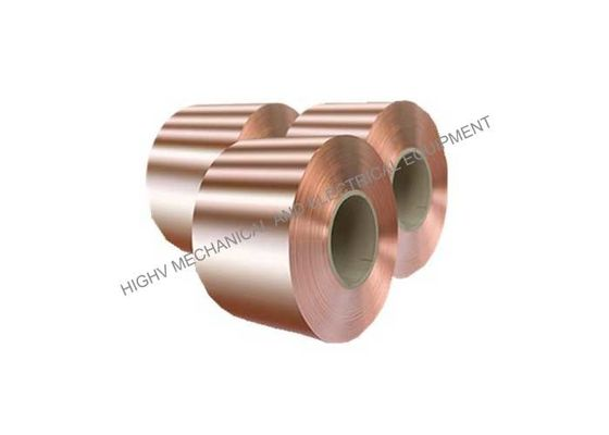 China Pure Copper Foil Strip , Copper Foil Roll For 0.1mm To 2.5mm Thickness distributor