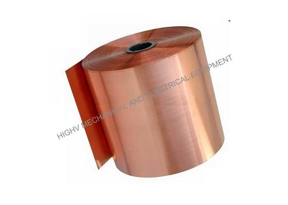 China Electric Industry Copper Alloy Strip , Thin Copper Tape ASTM C1100 Grade T2 Temper distributor